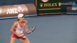 justine henin & roger federer - tennis royalty practice sessions australian open 2010 - justine henin, roger federer