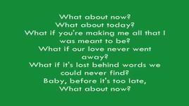 what about now (lyrics) - westlife