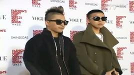 vogue fashion night out in seoul on sstv (110921)  - g-dragon (bigbang), tae yang (bigbang)