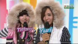 tiffany & yuri - progress 2 (music core @ mbc 3/12/2011)  - mc