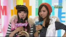 tiffany & yuri - progress 1 (music core @ mbc 3/12/2011)  - mc