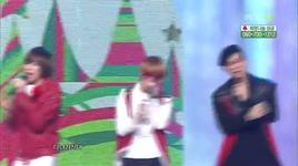santa claus is coming to town + white christmas (music core @ mbc special christmas 24/12/2011)  - teen top, infinite