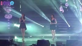 davichi cover hoang mang (music bank in vietnam) - ho quynh huong, davichi