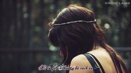 hoc cach di mot minh (kara, lyrics, fanmade) - luong bich huu
