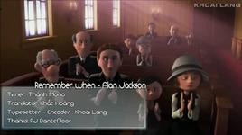 remember when (vietsub, kara) - alan jackson