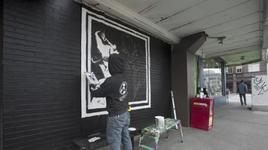 easy street records mural time lapse - mad season