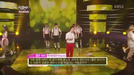 short hair (130614 music bank) - huh gak, eun ji (a pink)