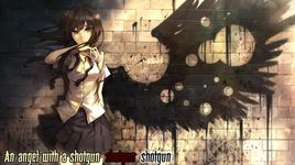 angel with a shotgun (lyric) - nightcore