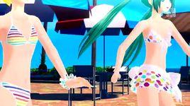 summer idol (project diva f) - kagamine rin, hatsune miku