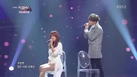 some (140317 music bank) - soyou, junggigo