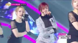 good-night kiss (140524 music core) - hyo sung (secret)