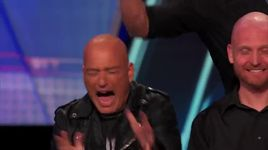 howie mandel gets his head slapped (america's got talent 2014) - bald man bongos - v.a