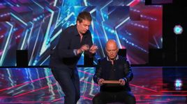 mystifier uses howie mandel for mathematical magic (america's got talent 2014 - audition) - mike super - v.a