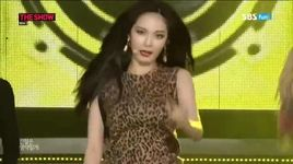 red (140819 sbs the show) - hyuna