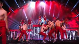 dance troupe tosses girl from judges desk to stage (america's got talent 2014 - semifinals) - acro army - v.a