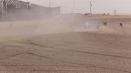 motorcycle vs police car drift battle - v.a