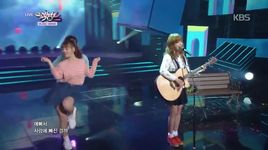 i think i'm in love (141010 music bank) - juniel
