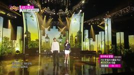 garosu-gil at dawn (150404 music core) - baek ji young, song yoo bin