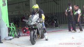 kawasaki ninja h2r test tren duong dua - v.a