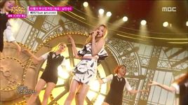 parting at busan station (150815 music core) - baechigi, sol ji (exid)