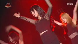 joint stage (150905 k-pop super concert) - hani (exid), yura (girl's day), chanmi (aoa)