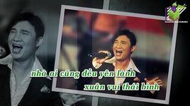 bong van tho (karaoke) - quang linh