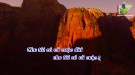 dau chan phia truoc (karaoke) - cao minh