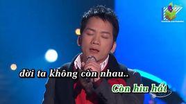 doi khong con nhau (karaoke) - don ho