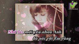 em khong tin (karaoke) - bich phuong