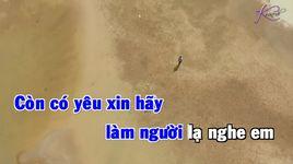xin lam nguoi xa la (karaoke) - duy truong