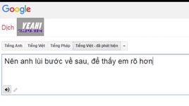 phia sau mot co gai phien ban google translate - v.a