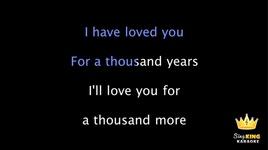 a thousand years (karaoke) - christina perri