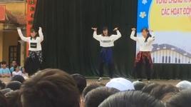 nhay cover hit 'idol - bts' kha on day chu - v.a