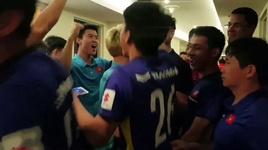 doi tuyen viet nam an mung sau khi lot vao vong 1/8 asian cup 2019 - v.a