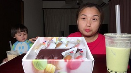 hau canh cuoi te nuoc video an banh macarons uong tra sua - cuoc song o nhat #303 - quynh tran jp