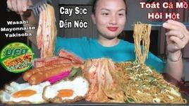 an thu mi wasabi mayonnaise yakisoba cay soc toi noc, kem xuc xich, thit xong khoi & trung - cuoc song o nhat #295 - quynh tran jp