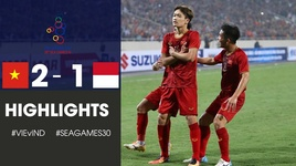 viet nam 2 - 1 indonesia: sieu pham pha luoi cua hoang duc (seagames 30) - v.a