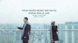 thi ra nguoi trong trai tim em khong phai la anh / 原来占据你内心的人不是我 (vietsub, kara) - ha nhat hang