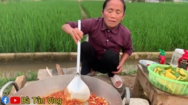 lam dia chan ga tron xoai non sieu cay khong lo - ba tan vlog