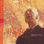 recital for israel 1975 (vol. 80 - cd2) - arthur rubinstein