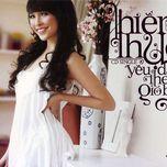 yeu dau theo gio bay (cd single) - hien thuc