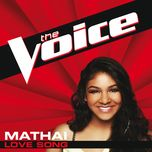 love song (the voice performance) (single) - mathai