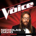 september (the voice performance) (single) - nicholas david