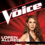 need you now (the voice performance) (single) - loren allred