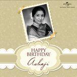happy birthday ashaji! - asha bhosle