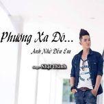 phuong xa nho den em (single) - nhat thanh