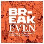 break even (single) - jaa9 & onklp, nico d, admiral p, herrelose