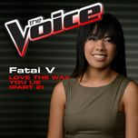 love the way you lie (part 2) (the voice performance) (single) - fatai v