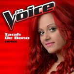 listen (the voice performance) (single) - sarah de bono