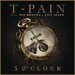 5 o'clock (single) - wisin & yandel, t-pain, yandel